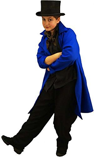 - World Book Day-Dickens-Oliver ARTFUL DODGER FROCK COAT Men's Costume - From Sizes Small to Large (LARGE)
