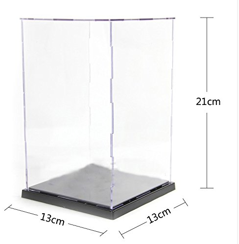 KENGEL 13X13X21CM Assembly Transparent Clear Acrylic Toys Display Dustproof Protection Showcase Case Box