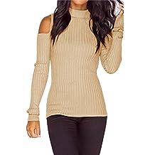 Kinghard Women Long Sleeve Knitted Pullover Sweater Slim Jumper Tops