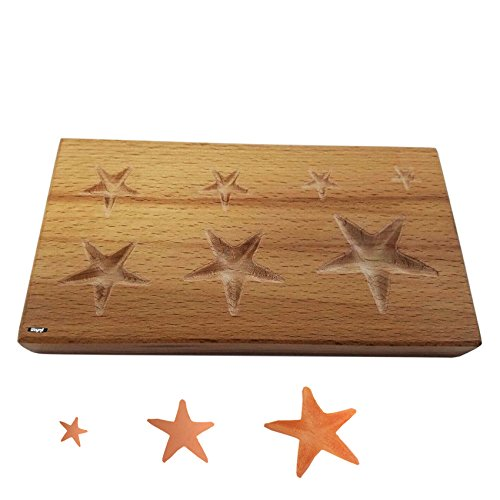 (STAR FORMING BLOCK WOOD DAPPING WOODEN SHAPING TOOL JEWELRY FORMS SHAPE 7 SIZES)