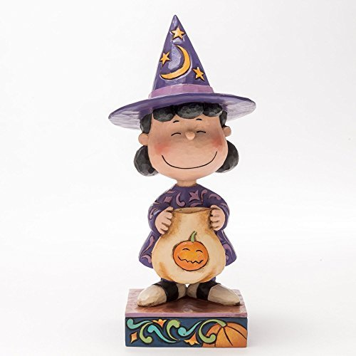 Jim Shore for Enesco Peanuts Lucy in Witch Costume Figurine, -