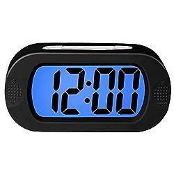 Upgrade Digital Alarm Clock LED Mirror Clock Multifunction Snooze Display Time Night Led Table Desktop