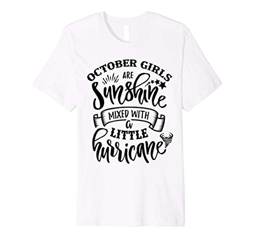 October Girls Are Sunshine Mixed Little Hurricane T-Shirt