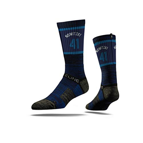 Strideline NBA Dallas Mavericks Dirk Novitwki Jersey Premium Athletic Crew Socks, One Size
