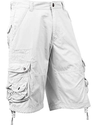 Ma Croix SM Mens Premium Cargo Shorts Without Belt (38, sm01_White) ()