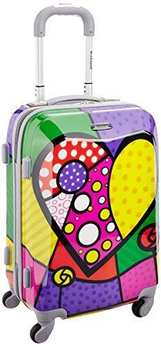 - Rockland 20 Inch Polycarbonate Carry On, Heart, One Size