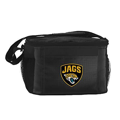 NFL Jacksonville Jaguars Insulated Lunch Cooler Bag with Zipper Closure, Black
