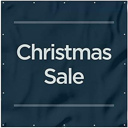 Christmas Sale 12x8 Chalk Burst Heavy-Duty Outdoor Vinyl Banner CGSignLab
