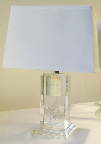 Ralph Lauren Home Rectangular Column Crystal Base with Rectangular White Linen ()