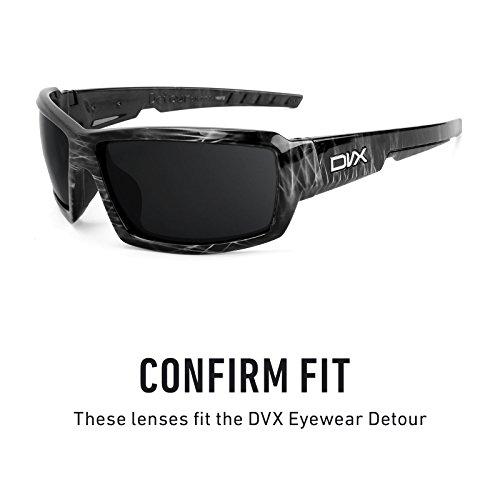 Verres de rechange pour DVX Eyewear Detour — Plusieurs options Gris Vert - Non-Polarisés