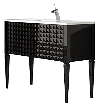 Admirable Diamond 40 Inch Wide Bathroom Vanity Cabinet Set Black High Download Free Architecture Designs Embacsunscenecom
