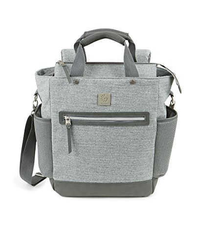 Ergobaby Coffee Run Tall Tote Diaper Bag, Grey