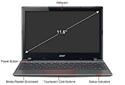 New Acer C7 C710-2847 Chromebook 11.6
