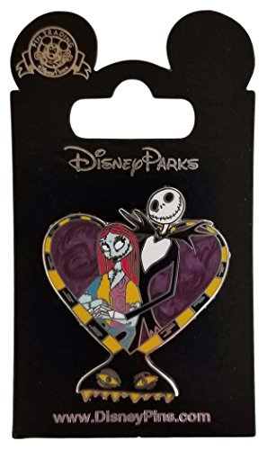 WDW Trading Pin - Jack And Sally Heart