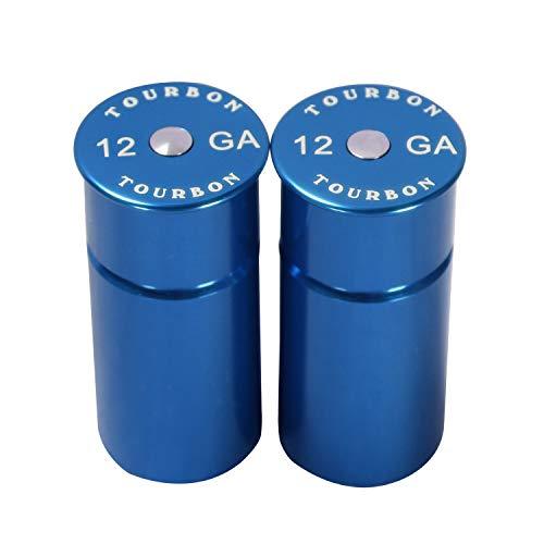 Tourbon Hunting Aluminum Shotgun 12 Gauge Snap Cap -Blue (Pack of 2 pieces)