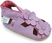 Dotty Fish Soft Leather Baby Shoes with Suede Soles. Toddler Sandals and T-Bars. Anti Slip. 0-6 Months to 3-4