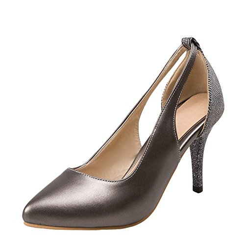 Heels Stilettos Womens grey Bridal Carolbar Toe Metal Pointed Shoes High Dress awOx6