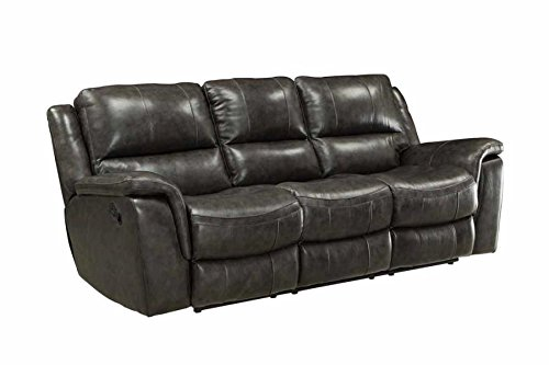 Coaster Home Furnishings 601821 Two-Tone Wingfield Motion Collection Motion Sofa, Charcoal