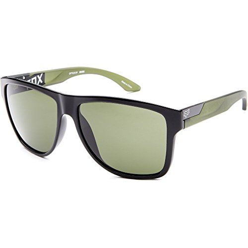 Fox Racing The Conrad Adult Sunglasses - Polished Black-Matte Olive/Green-Grey / One - Fox Sunglasses