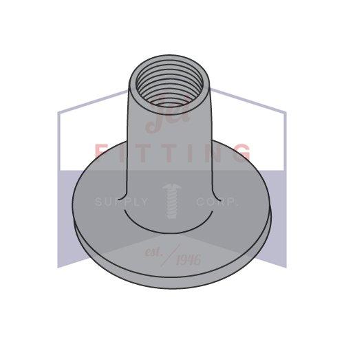 8-32X1//4 Weld Nuts Round Base 9//16 Steel 1000pcs
