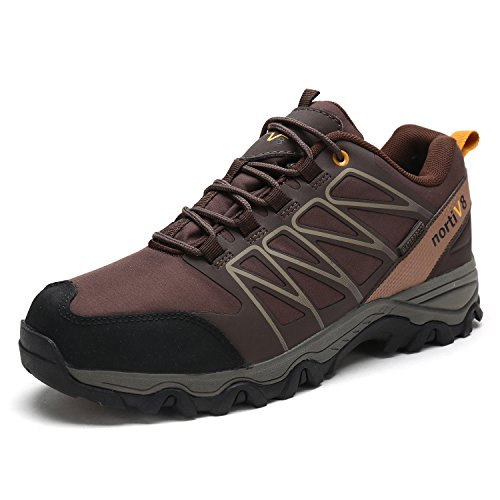 DREAM PAIRS Men's Nortiv8 160489-M Brown Black Tan Insulated Waterproof Work Hiking Boots Size 8 M US