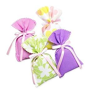 Chige Air Purifying Bags,Bamboo Charcoal Odor Eliminator Bag and Air Freshener Bag,Air Filter Purifier for Fridge,Freezer,Car,Closet,Shoe,Kitchen,Basement,Bedroom,Living Area (4pcs - Random Color)