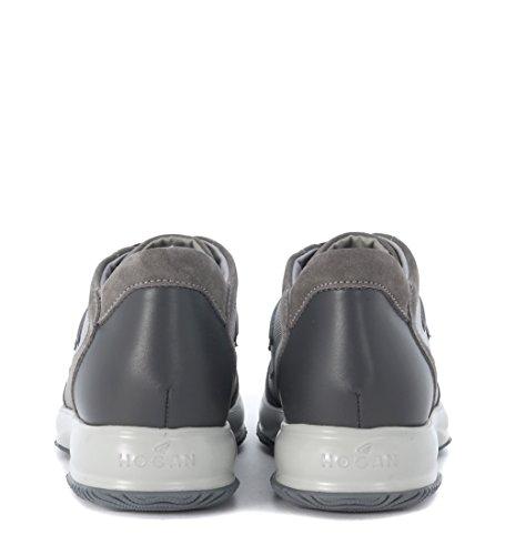 Sneaker Hogan Interactive en gamuza y piel plomo Gris