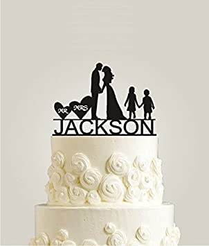 Personalized Family Wedding Cake Topper with Your Last Name, Girl ...