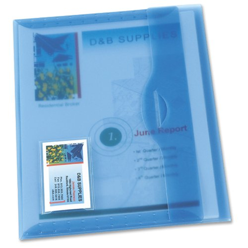 (Avery Translucent Document Wallet, Light Blue, 1 Each (72279) )