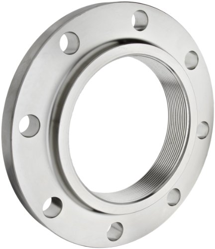 Stainless Steel 316/316L Pipe Fitting, Flange, Threaded, Class 150, 6'' NPT Female by Merit Brass