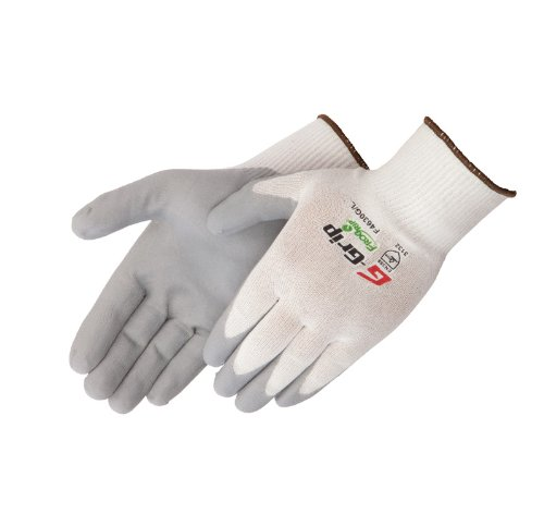 Liberty G-Grip Nitrile Foam Palm Coated Plain Knit Glove with White Nylon Shell, Medium, Gray (Pack of 12)