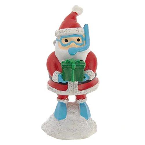 Top Fin (3 in) Snorkling Santa Claus Christmas Aquarium Ornament (Fin Top Decorations Aquarium)