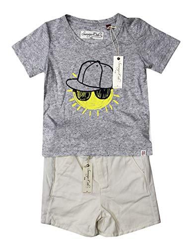 (SOVEREIGN CODE KIDS 2PC Infant Boys Grey Sun T Shirt White Shorts 18M)