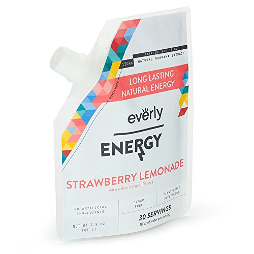 Everly Energy - Affordable, Sugar-free, Natural Energy Drink Mix Powder - Pouch, 30 Servings, Strawberry Lemonade (Spark Drink Mix compare prices)