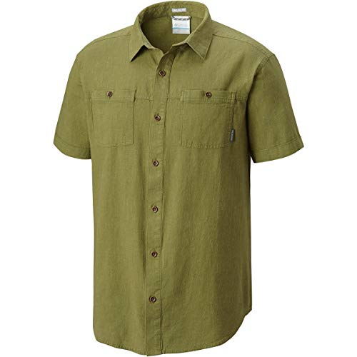 (Columbia Men's Southridge Short Sleeve Shirt, Mosstone, XX-Large)