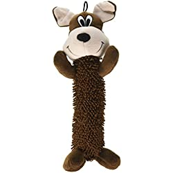 Smart Pet Love - Tender Tuffs - Shaggy Brown Dog - Tough Dog Toy - Play Fetch or Tug-of-war - Proprietary TearBlok Technology - Puncture Proof Squeaker
