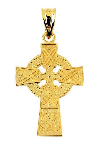 10 ct 471/1000 Irlandais Croix Or Jaune Pendentif