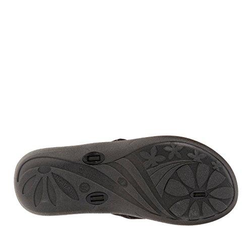 Okabashi Kvinna Indigo Rem Flip Flop Sandaler Svart / Lila