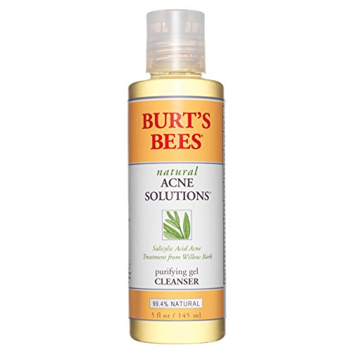Purifying Face Wash (Burt's Bees Natural Acne Solutions Purifying Gel Cleanser, 5 Ounces, Pack of 3)