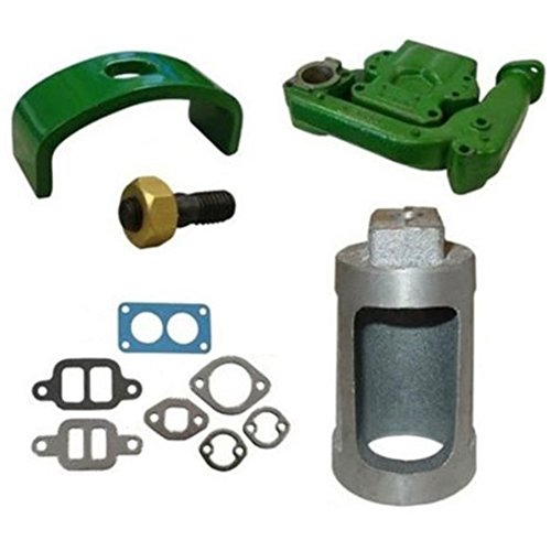 - B3641R New Intake Exhaust Manifold w/Clamp Gaskets Heat Exchange for John Deere