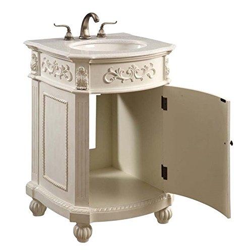 Elegant Lighting VF-1010 36'' 1 Door Vanity Cabinet, Antique White Finish