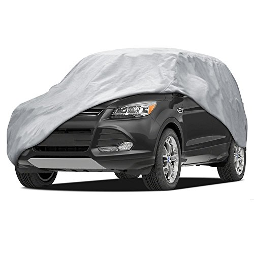 BDK SUV VAN Cover - Universal Fit, Non Woven, Grey W/ Secure Lock (Fits up to 185