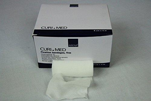 Curi-Med - Mullfixierbinde - 4 m x 8 cm - elastisch - 20 Stück
