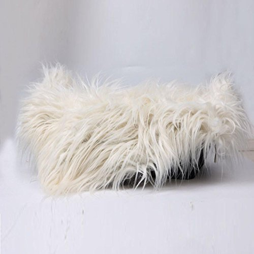 Fabal Newborn Photography Props Faux Fur Stuffe Background Baby Photo Soft Blanket (Beige) (Faux Photo Fur Rug Prop)