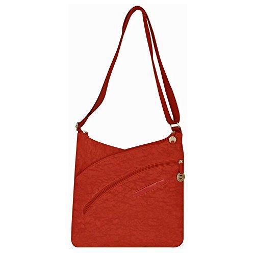 Cross Shoulder Organizer (Travelon Criss-Cross Organizer Shoulder Bag (Orange))