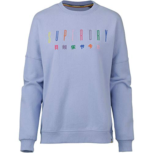 Embroidered Carly Blu carnival Superdry Para Sudadera Mujer Carnival F2d Cre Blue B1xdwq4x