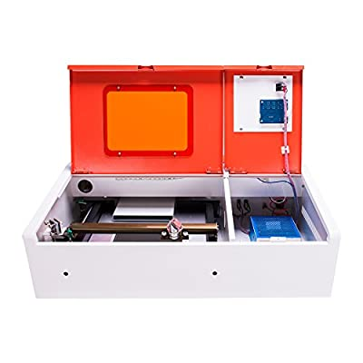 """Orion Motor Tech 12""""x 8"""" 40W CO2 Laser Engraver Cutting and Engraving Machine with Water-Break Protection"""