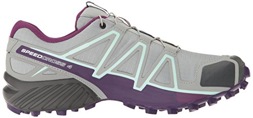 Salomon Speedcross 4 Women's Zapatilla De Correr Para Tierra - AW17 Gris (Quarry Acai/fair Aqua)