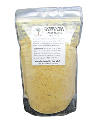Nutritional Yeast Flakes 1 Pound (16 Ounces) - Vitamin B Fortified