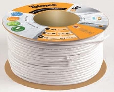 Televes 2141 - Cable coaxial t100 plus blanco: Amazon.es: Bricolaje y herramientas